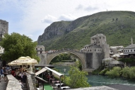 Famous bridge of Mostar.