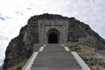 Tunnel leading to mauzoleum of the top of National Park Lovcen.