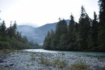 Skagit river in North Cascades