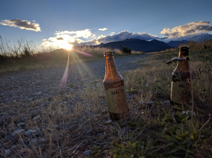 Sharing beers with the sunset.