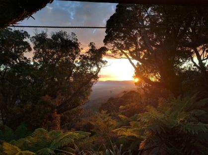 Sunrise from Big Hellfire Hut.