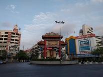 Passing Bangkok's Chinatown.